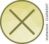 cancel  delete icon   Shutterstock .eps vector #1116565247