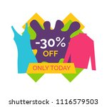 30   off only today for stylish ... | Shutterstock .eps vector #1116579503