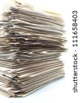 piled up office work papers - stock photo