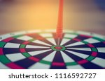 goal target with arrow in the... | Shutterstock . vector #1116592727