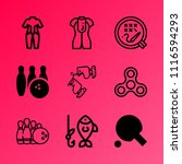 vector icon set about hobby... | Shutterstock .eps vector #1116594293