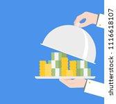 hand serving money  quick money ...   Shutterstock .eps vector #1116618107