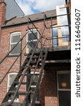 urban new york  style metal... | Shutterstock . vector #1116640607
