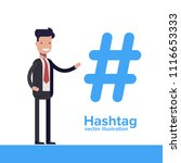 hashtag concept. promotion of... | Shutterstock .eps vector #1116653333