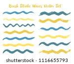 vintage brush stroke waves... | Shutterstock .eps vector #1116655793