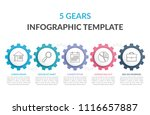 infographic template with five... | Shutterstock .eps vector #1116657887