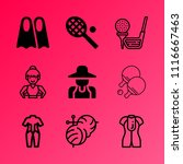 vector icon set about hobby... | Shutterstock .eps vector #1116667463