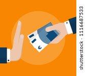 businessman hand refusing the... | Shutterstock .eps vector #1116687533
