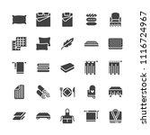 bedding flat glyph icons.... | Shutterstock .eps vector #1116724967