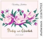 vintage wedding invitation... | Shutterstock .eps vector #1116767513