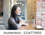the young businesswomen hoding... | Shutterstock . vector #1116773003
