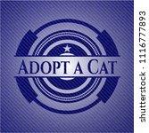 adopt a cat emblem with denim... | Shutterstock .eps vector #1116777893