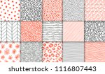 abstract hand drawn geometric...   Shutterstock .eps vector #1116807443