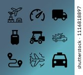 vector icon set about transport ...   Shutterstock .eps vector #1116818897