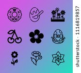 vector icon set about flowers... | Shutterstock .eps vector #1116819857
