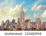 new york   march 15  the empire ... | Shutterstock . vector #111682943