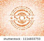 sos abstract orange mosaic... | Shutterstock .eps vector #1116833753