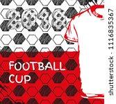 vector sport template. soccer... | Shutterstock .eps vector #1116835367