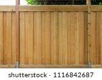 new cedar wood fence around... | Shutterstock . vector #1116842687