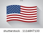 abstract american flag with... | Shutterstock .eps vector #1116847133