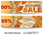 autumn sale. vector... | Shutterstock .eps vector #111687077