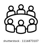 team business meeting with... | Shutterstock .eps vector #1116873107