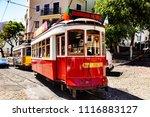 tram in lisbon  | Shutterstock . vector #1116883127