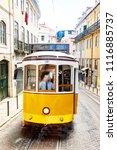 tram in lisbon  | Shutterstock . vector #1116885737