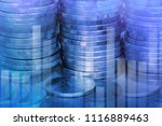 stack of coins with graph  ... | Shutterstock . vector #1116889463