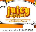 juicy yellow and orange comic...   Shutterstock .eps vector #1116905507