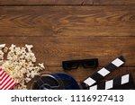 cinema background  top view.... | Shutterstock . vector #1116927413