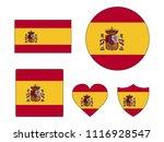 spain flags set | Shutterstock .eps vector #1116928547