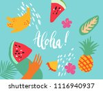 minimal summer trendy vector... | Shutterstock .eps vector #1116940937