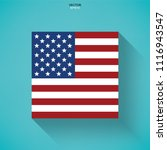 abstract american flag icon... | Shutterstock .eps vector #1116943547