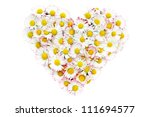 floral heart made   from daisy | Shutterstock . vector #111694577