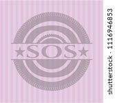 sos vintage pink emblem | Shutterstock .eps vector #1116946853