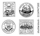vintage american rum wine... | Shutterstock .eps vector #1116947183