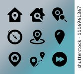 vector icon set about location... | Shutterstock .eps vector #1116961367