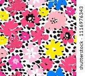 modern flowers pattern .hand...   Shutterstock .eps vector #1116976343