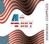 usa independence day with flag | Shutterstock .eps vector #1116991223