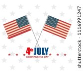 usa independence day with flag | Shutterstock .eps vector #1116991247