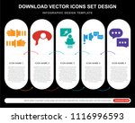 5 vector icons such as teamwork ... | Shutterstock .eps vector #1116996593
