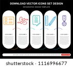 5 vector icons such as list ...