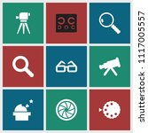 optical icon. collection of 9... | Shutterstock .eps vector #1117005557
