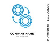 settings company logo design... | Shutterstock .eps vector #1117008203