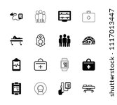 patient icon. collection of 16... | Shutterstock .eps vector #1117013447