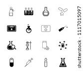 drug icon. collection of 16... | Shutterstock .eps vector #1117015097