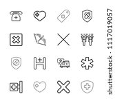 cross icon. collection of 16...   Shutterstock .eps vector #1117019057