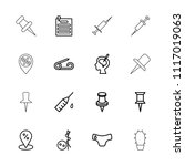 needle icon. collection of 16...   Shutterstock .eps vector #1117019063