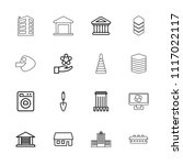 structure icon. collection of... | Shutterstock .eps vector #1117022117